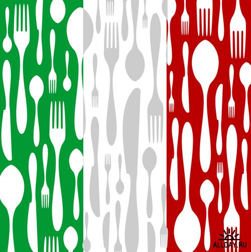 Итальянское меню в векторе   Italian Menu - Stock Vectors