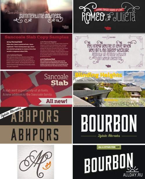 Сборник красивых шрифтов / Fonts pack 16