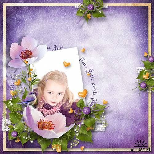 Scrap kit Inthe Purple Lights Of Spring