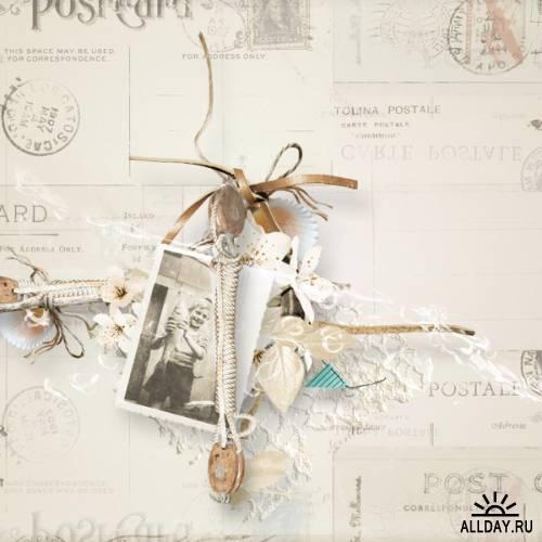 Скрап-набор Send me a postcard