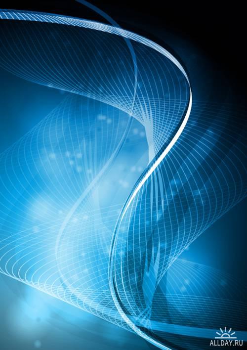 Сине-голубой дизайн - Векторный клипарт | Blue vector design - Stock Vectors