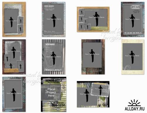 PSD-исходники для оформления молодёжных фото (Senior Styles for the young people)