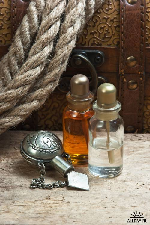 Old twine, parcel, vials