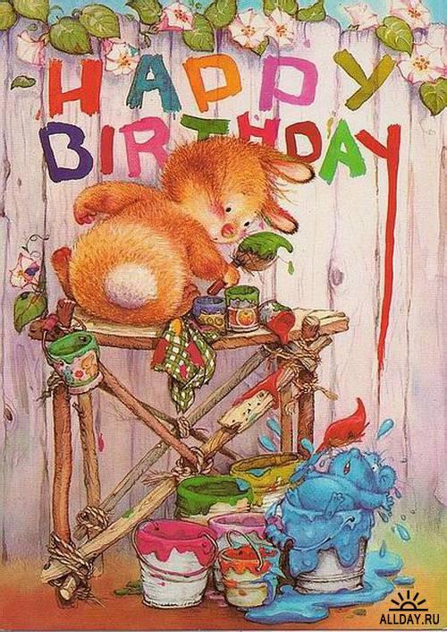Шведские открытки с днем рождения