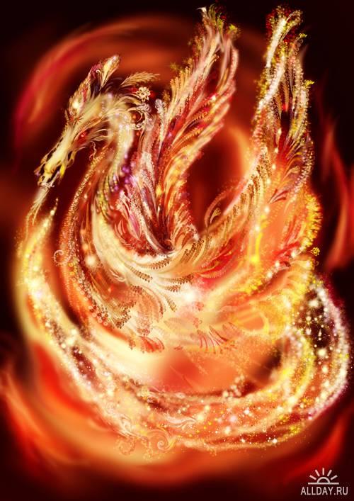 Драконы   Dragon - UHQ Stock Photo