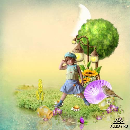 Scrap kit   Enchanted Spring