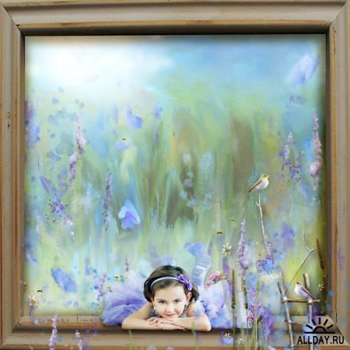 Скрап-набор Blue Meadow