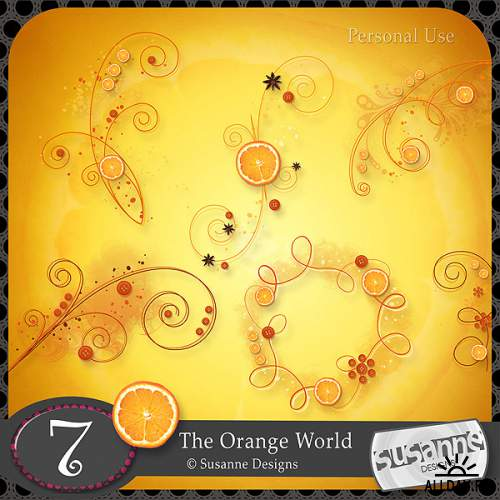 Скрап набор - The Orange World