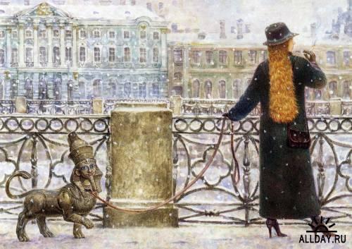 Питерский художник Владимир Румянцев.