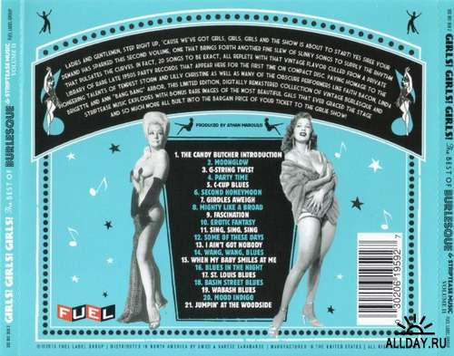 GIRLS! GIRLS! GIRLS!THE BEST OF BURLESQUE & STRIPTEASE MUSIC (VOL.II) 2013 (LOSSLESS + MP3)