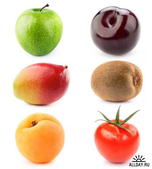 Set of  fresh fruit