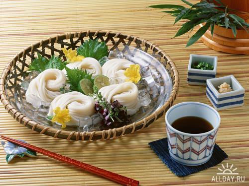 Обои - Азиатская кухня, напитки, фрукты