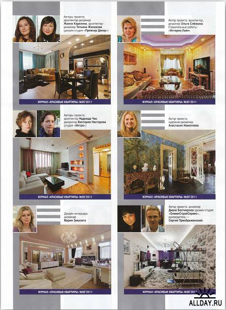 Красивые квартиры №10 (октябрь 2011)