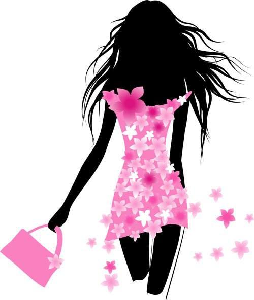 Девушки на Распродаже #10 - Векторный клипарт