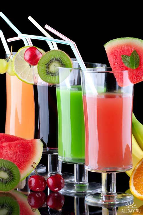 Juice from fresh fruits
