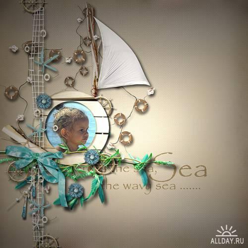 Скрап набор Window on the Sea