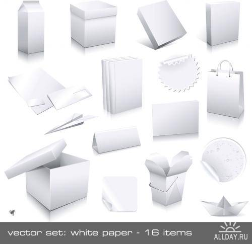 Utility box template - vector