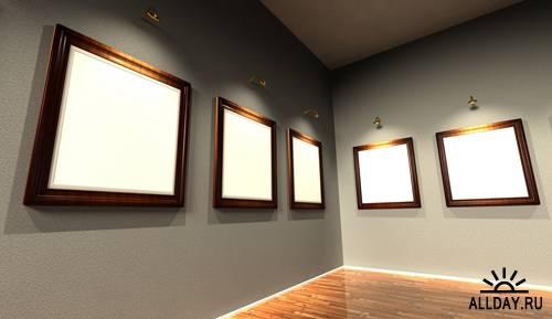 Set of 3d frames