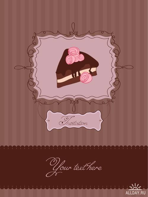 Пирожные - Вектрный клипарт | Cake - Stock Vectors