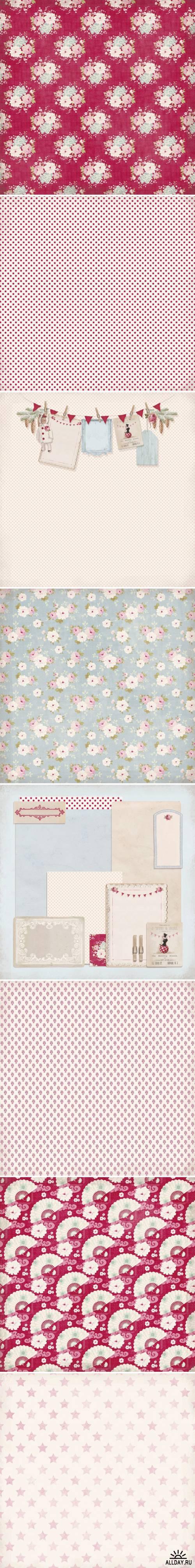 Набор бумаги для скрап-страниц и поделок | Paper Pad 018