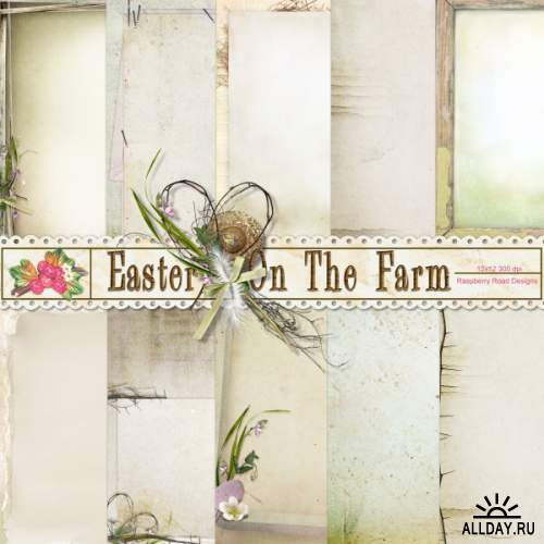 Scrap kit Easter On The Farm