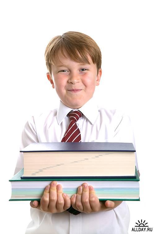 Обучение или учащиеся на белом фоне - часть 2