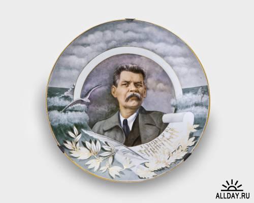 Советский фарфор (часть II- тарелки, вазы, посуда, разное)