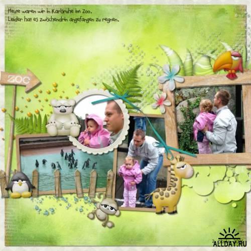 Скрап-набор Zoo Day