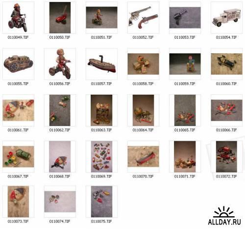Клипарт - Игрушки в стиле Ретро / Corel KPT Power Photos Retro Toys