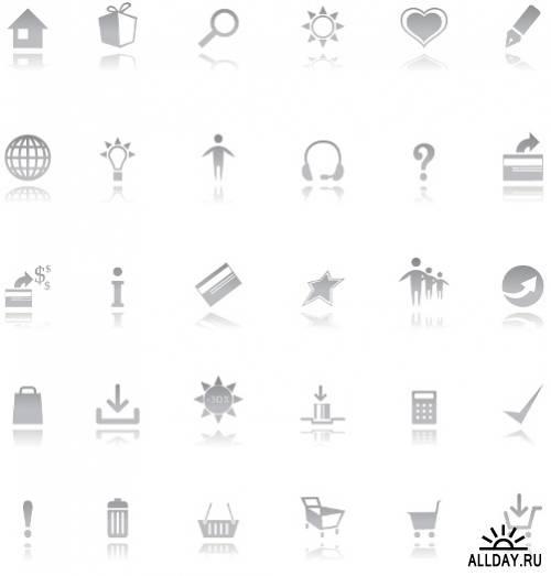 Сборник иконок в векторе