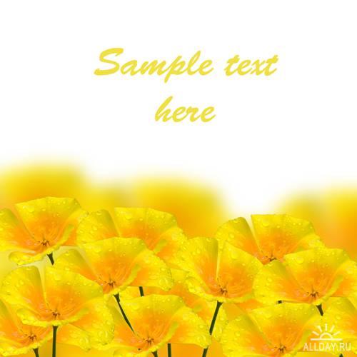 Цветочные фоны - растровый клипарт | Flower backgrounds - UHQ Stock Photo