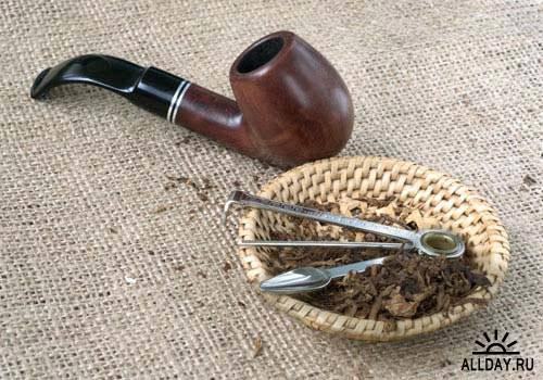 Pipe and tobacco. Set.5 - Stock Photo   Курительная трубка и табак. Вып.5