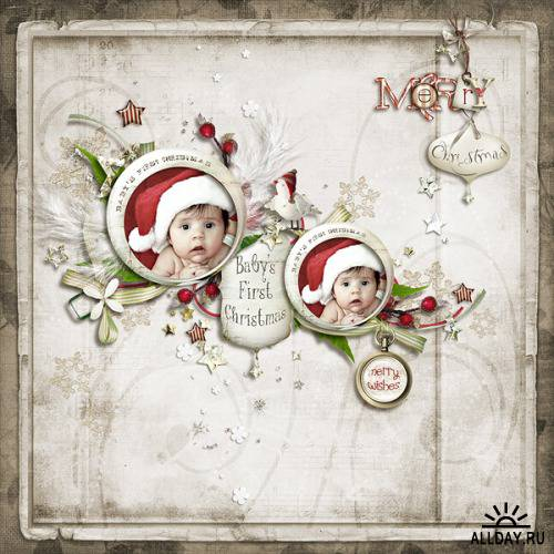 Скрап-набор - Merry