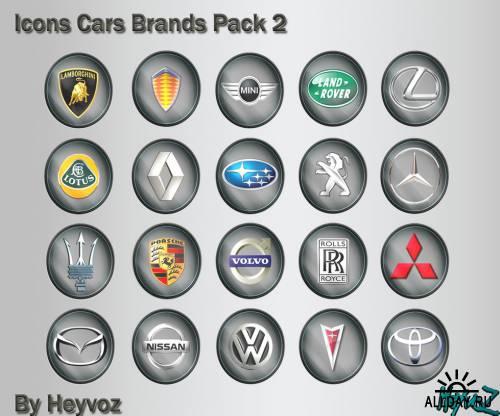 Иконки с логотипами автомобилей / Cars Brands Icons