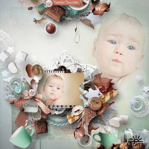 Scrap kit Chocolate and Marshmallows