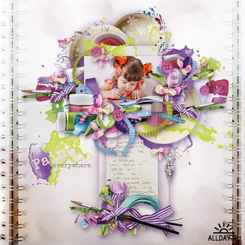 Скрап-набор Color your world