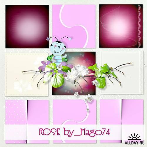 Скрап-набор Rose (Розовые цветы)