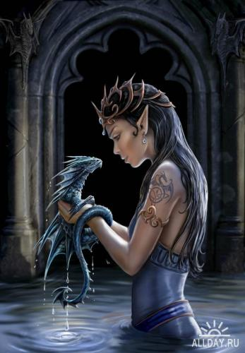 Иллюстрации от Anne Stokes