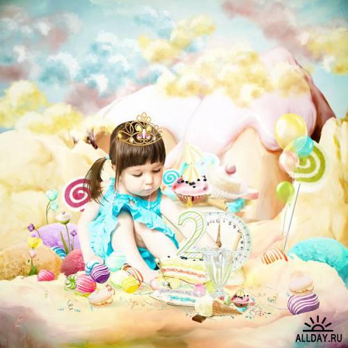 Скрап-набор - The Sweetest Kingdom