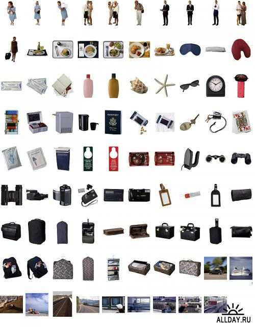 Travel Objects and Backgrounds