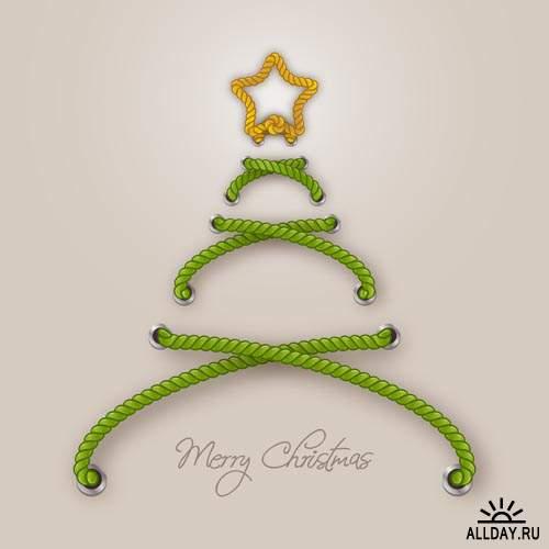 Новогодние елки 2014 #3 - Векторный клипарт