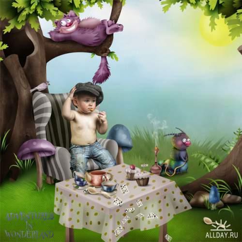 Скрап-набор Adventures in Wonderland