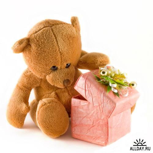Романтические Медвежата - Растровый клипарт