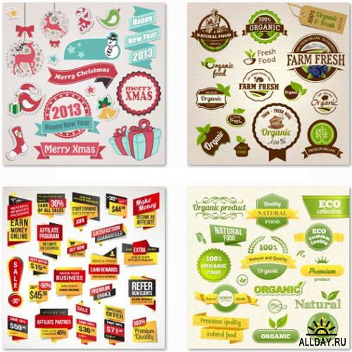 Stock Vector Collection of Labels vol.2