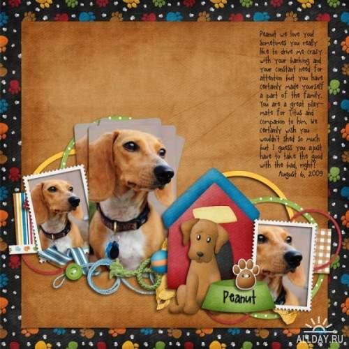 Скрап-набор - Pet Shop: Playful Pups