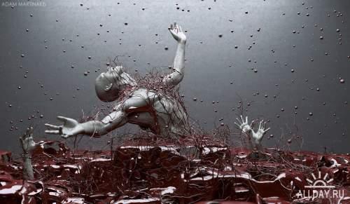 Цифровые скульптуры Adam Martinakis