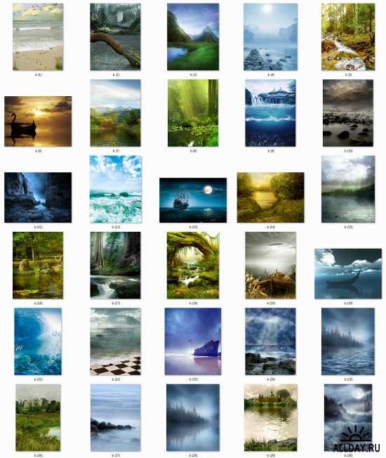 Природные фоны для вашего творчества - Natural backgrounds set 9