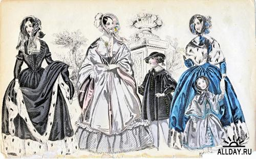 Vintage fashion pictures 1860 - 1910