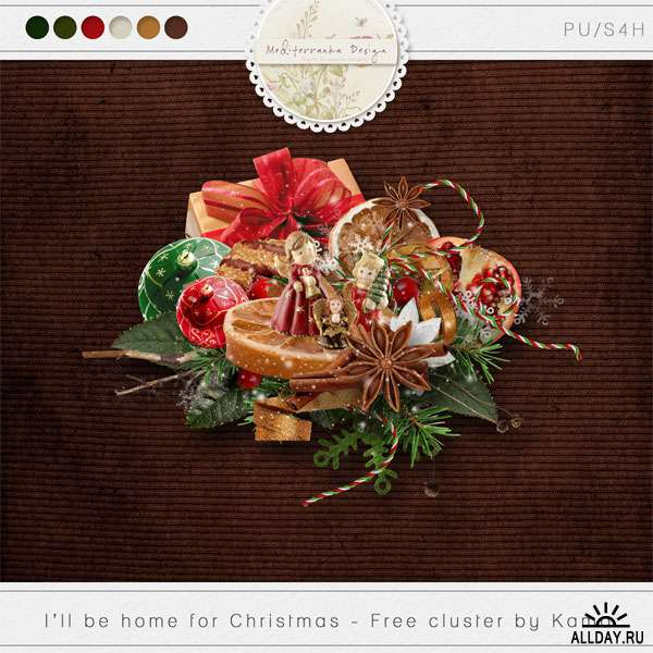 Scrap set - I`ll be home for Christmas (Add-on)