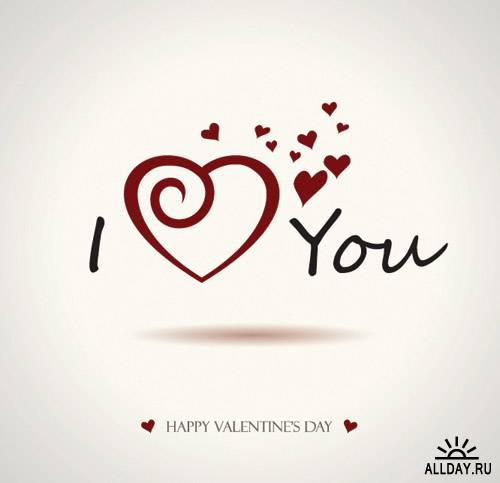 Valentine's Day Word graphics vector